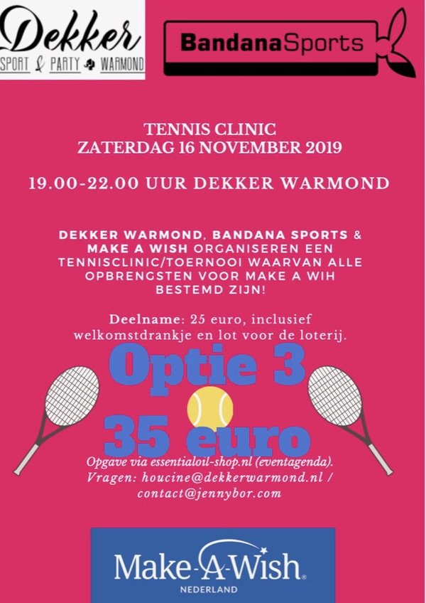 Tennisclinic 16 november 2019 - optie 3