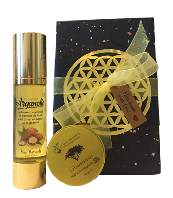 Argan Giftset MEDIUM - Pure Naturals - Beautybox - Cadeauset